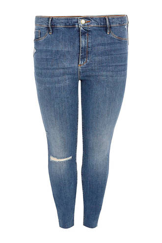 Plus skinny fit jeans blauw