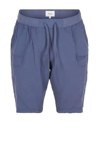 korte broek van katoen blauw
