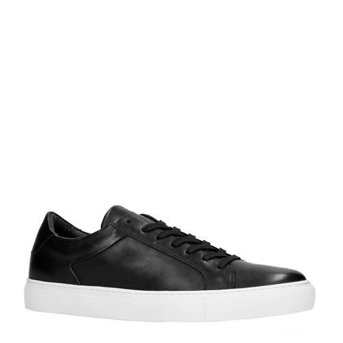 Sacha leren sneakers zwart