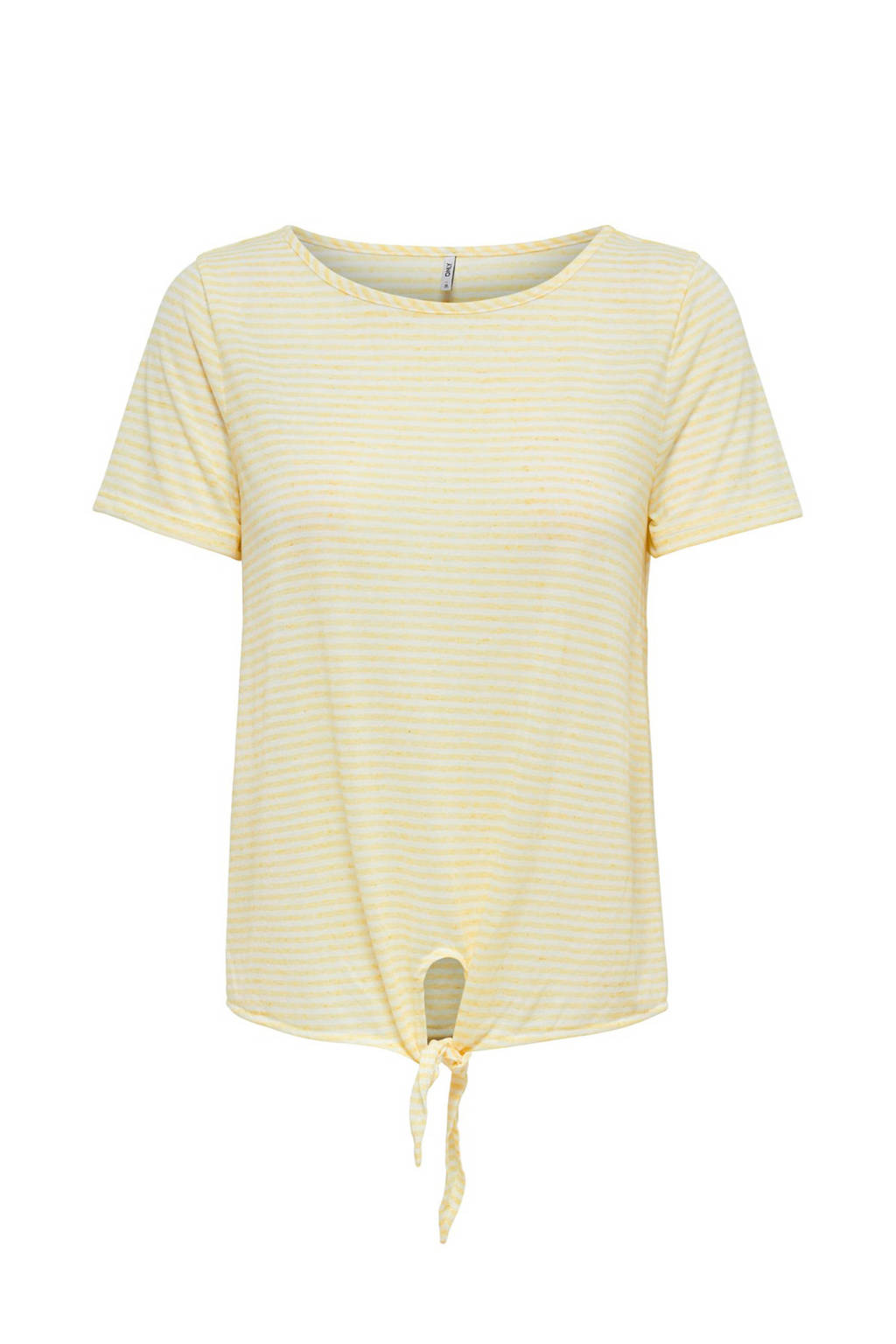 hoogwaardige sportkleding wereldwijd verkocht best verkocht gestreept T-shirt met knoopdetail