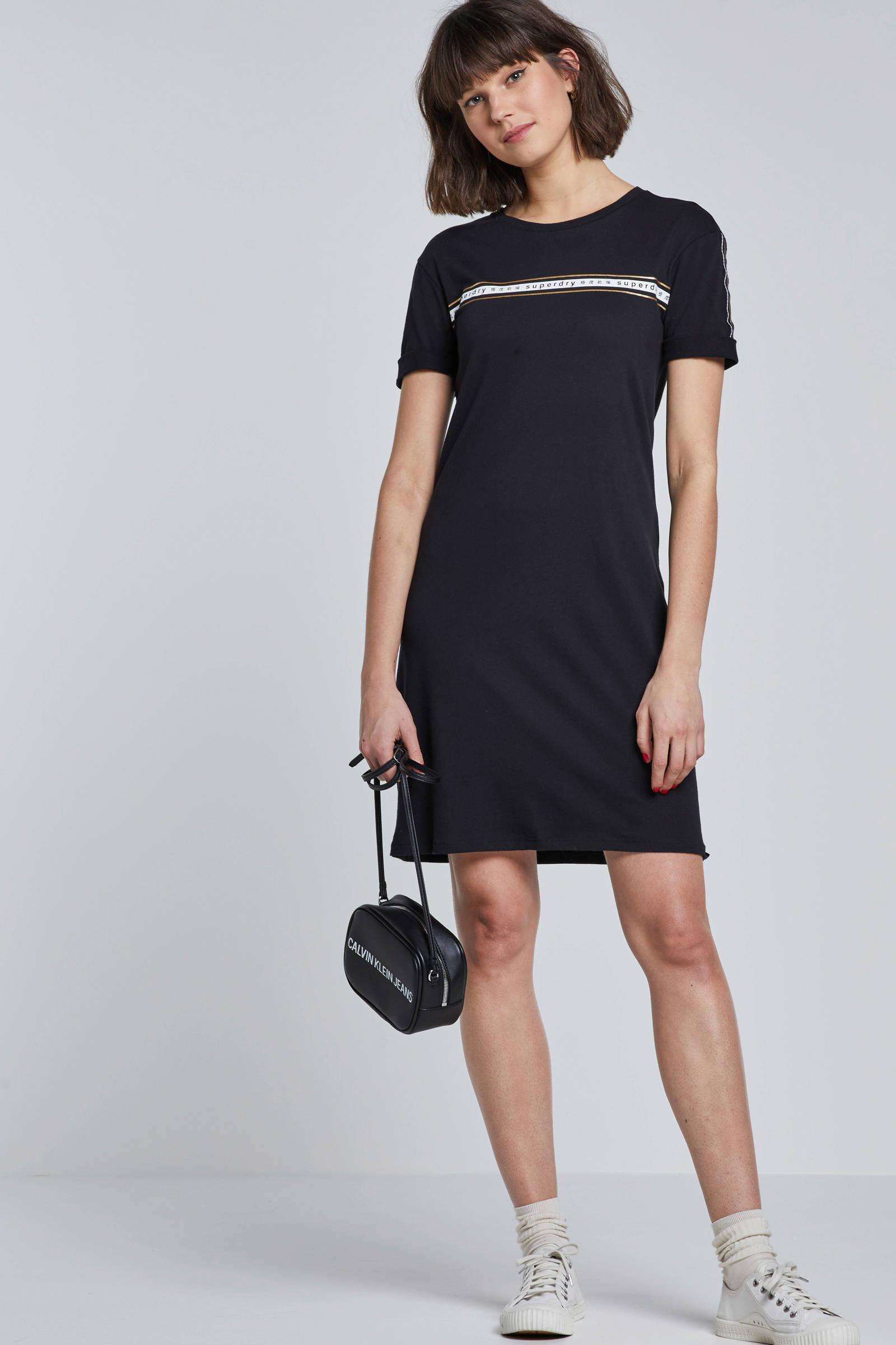 t shirt jurk zwart