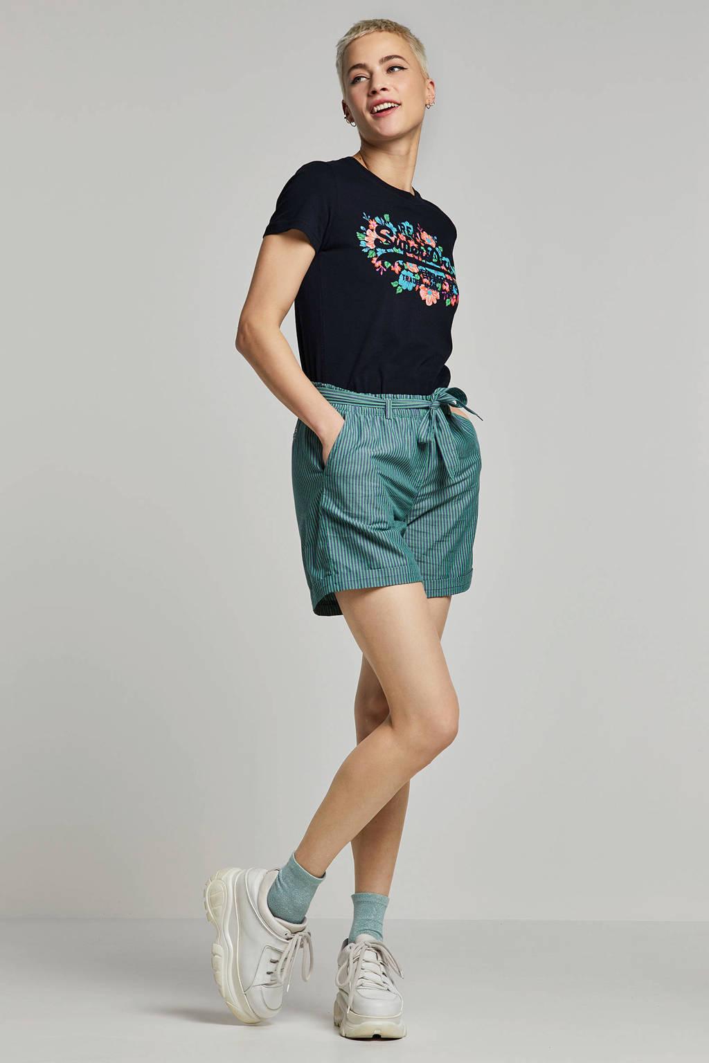 Superdry T-shirt print opdruk donkerblauw, Donkerblauw