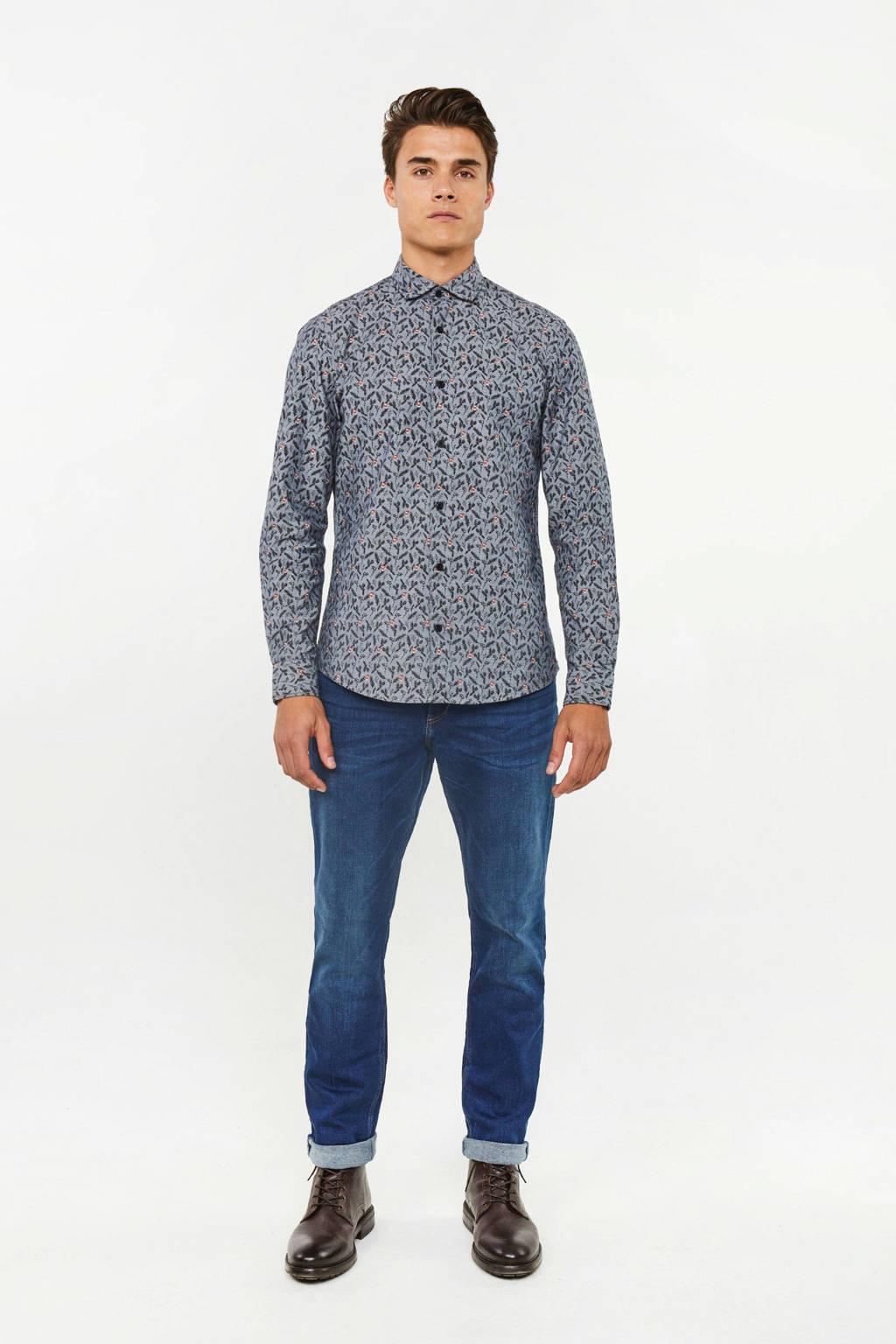 WE Fashion Blue Ridge regular fit jeans Stark Rex donkerblauw, Donkerblauw