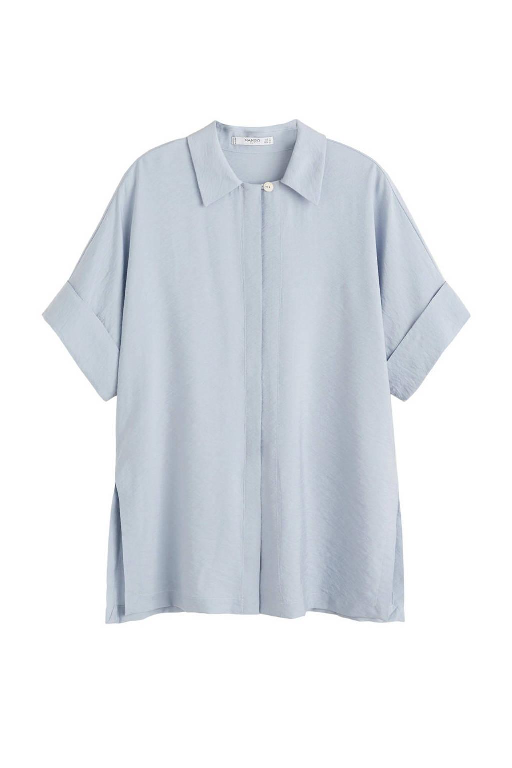 Mango blouse, pastelblauw