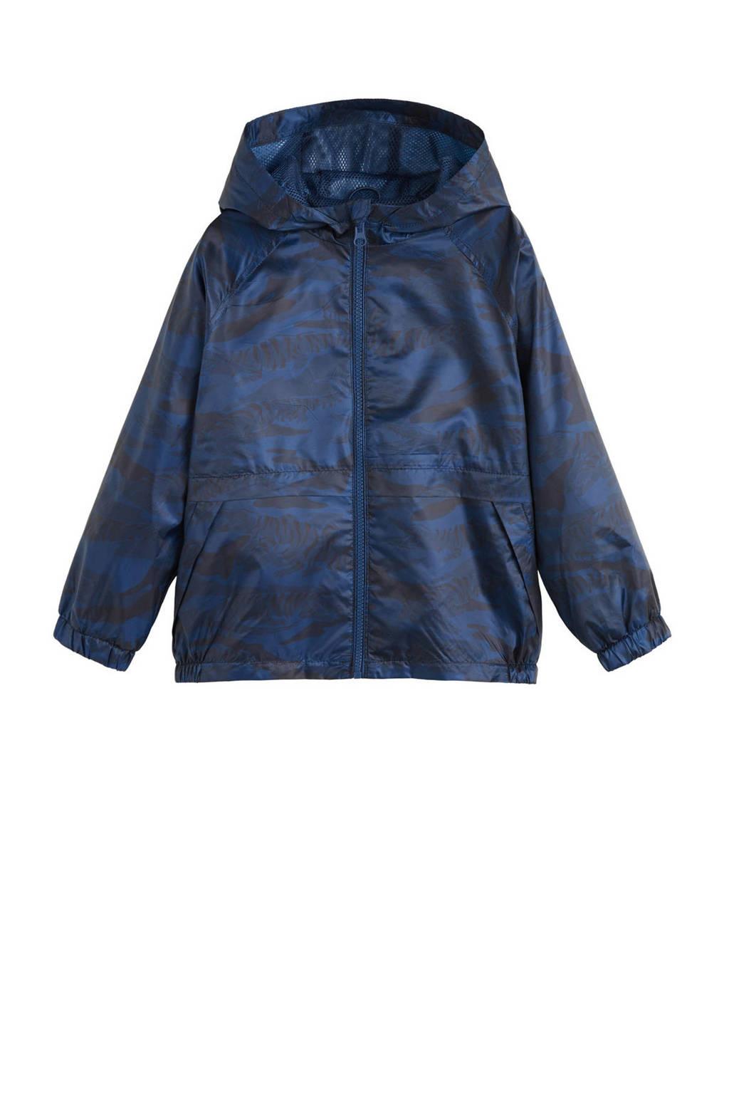 Mango Kids zomerjas met all over print blauw, Donkerblauw