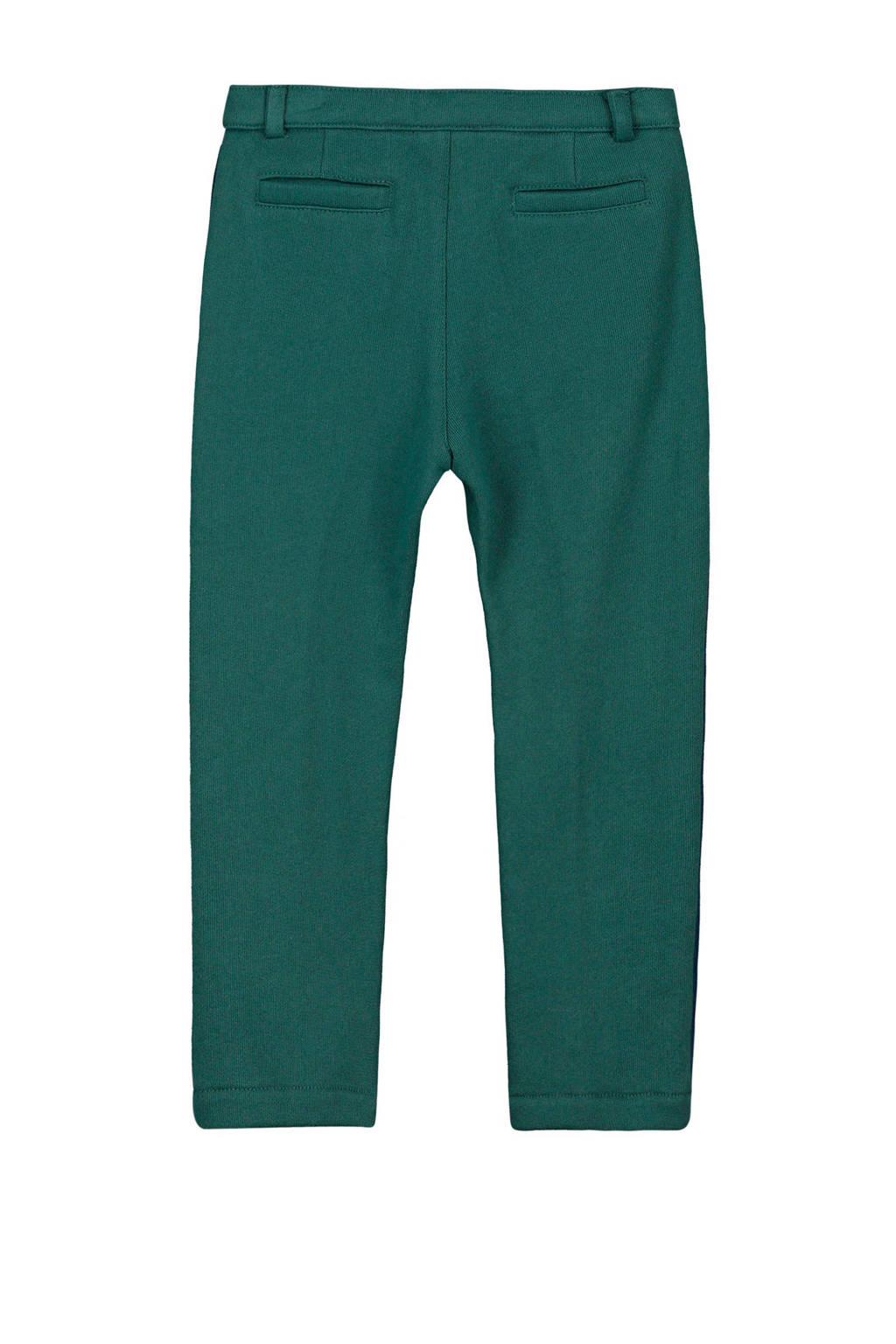 fred + ginger sweatpants Rufus met zijstreep groen, Donkergroen