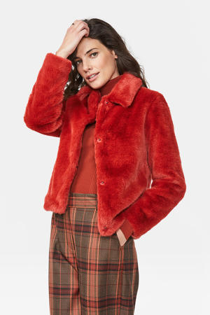 imitatiebont jas rood