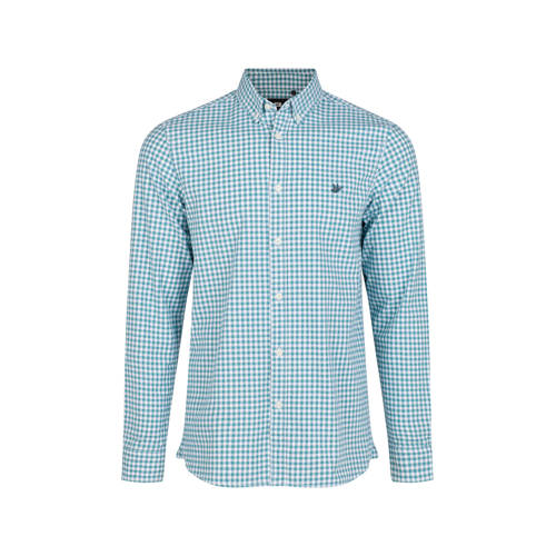 WE Fashion slim fit overhemd met all over print li