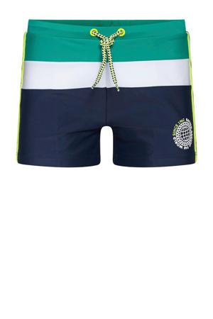 zwemshort donkerblauw/groen