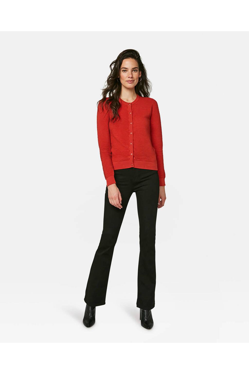 WE Fashion vest met textuur rood, Rood