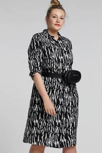 whkmp's great looks blousejurk met zebraprint, Zwart/ecru