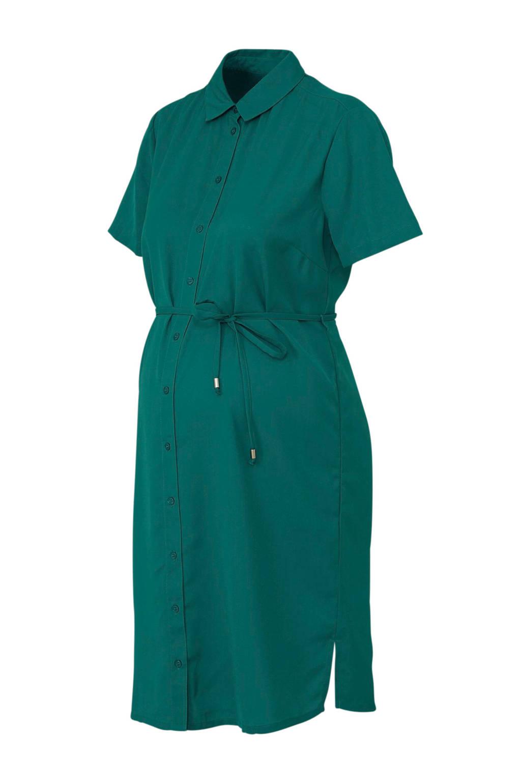 wehkamp zwangerschaps-blousejurk, Smaragdgroen