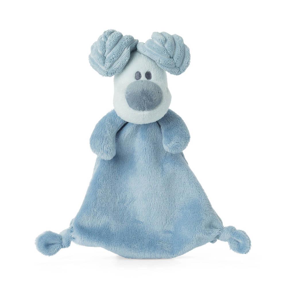 Woezel & Pip Woezel - 30 cm knuffeldoekje, Blauw