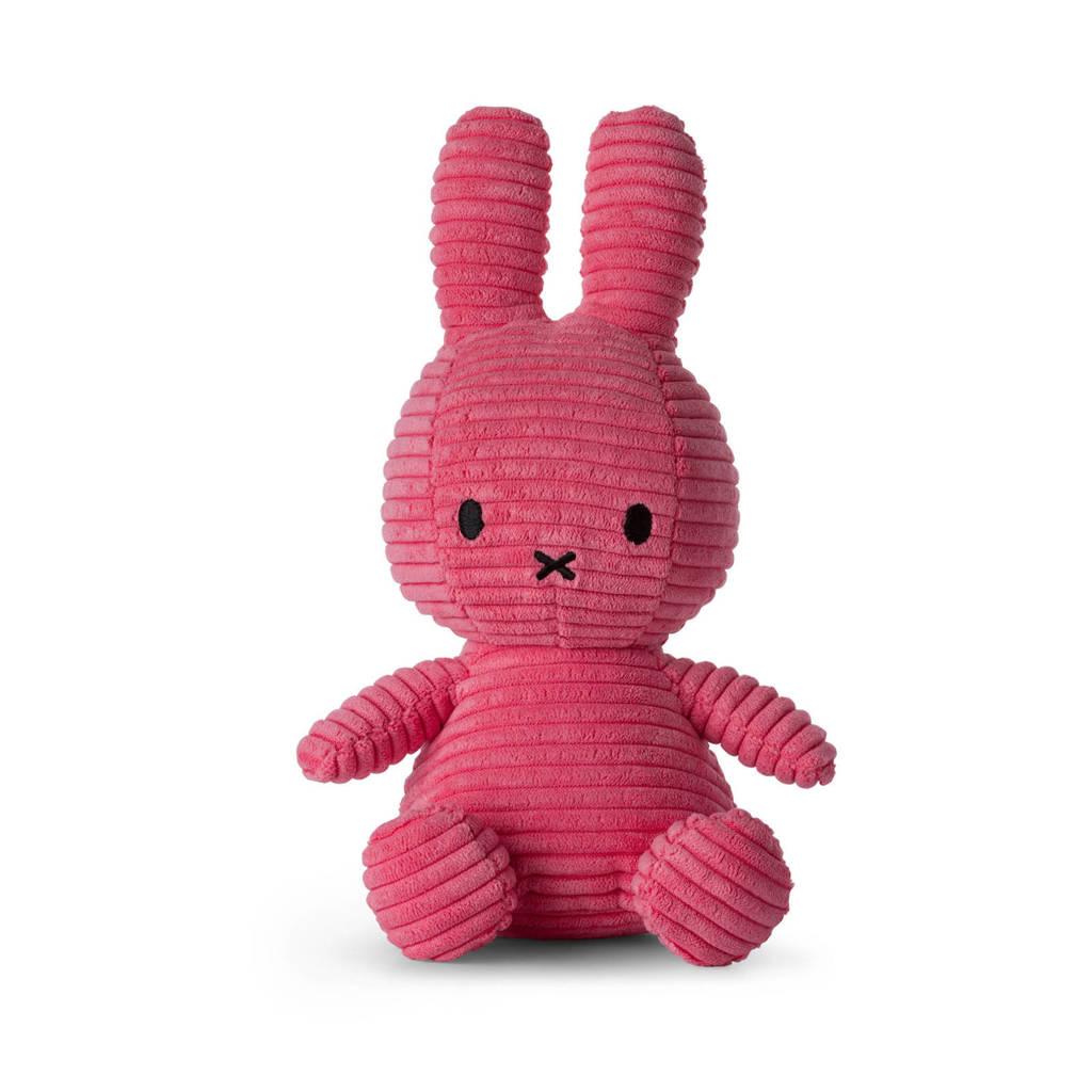 nijntje Miffy Sitting Corduroy Bubblegum Pink knuffel 24 cm
