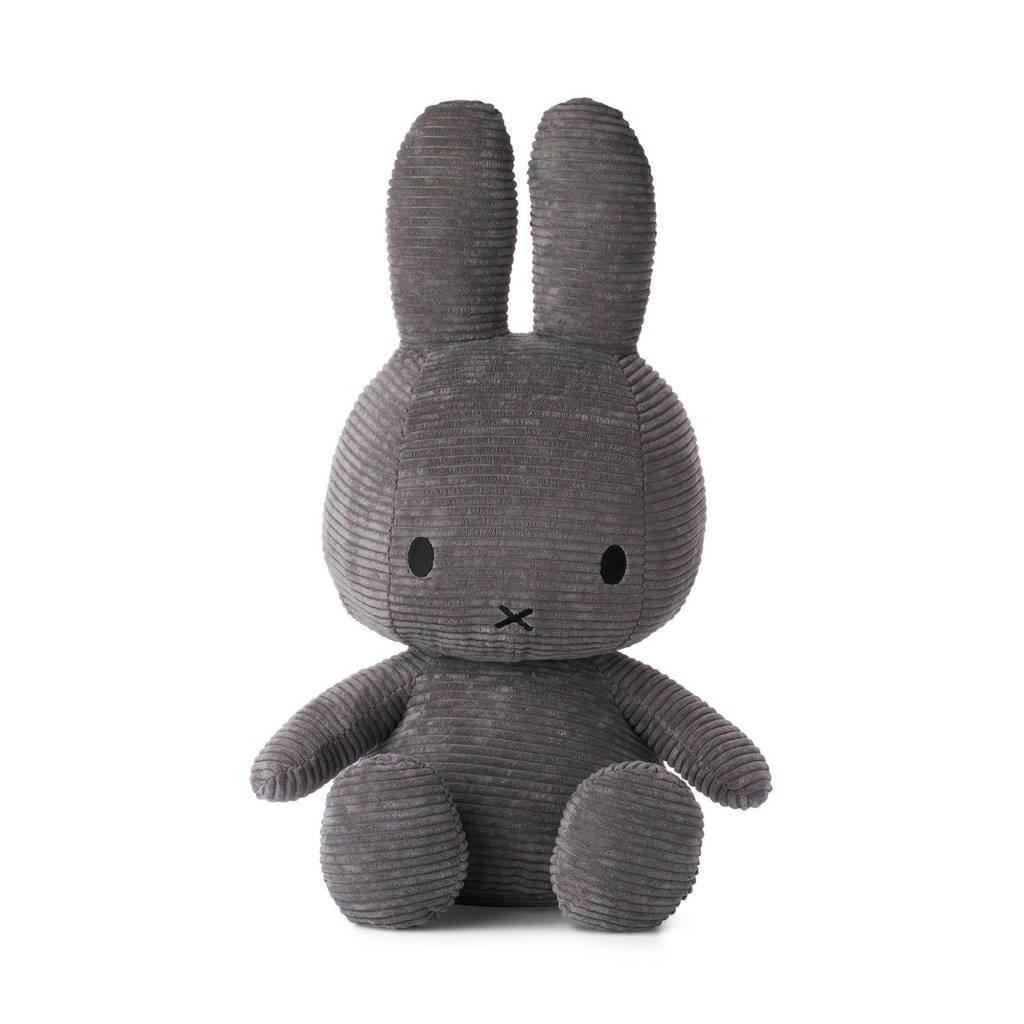 nijntje Miffy Sitting Corduroy Grey knuffel 50 cm