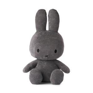 Miffy Sitting Corduroy Grey knuffel 50 cm