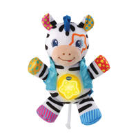 VTech knuffelrock zebra interactieve knuffel, Wit/zwart