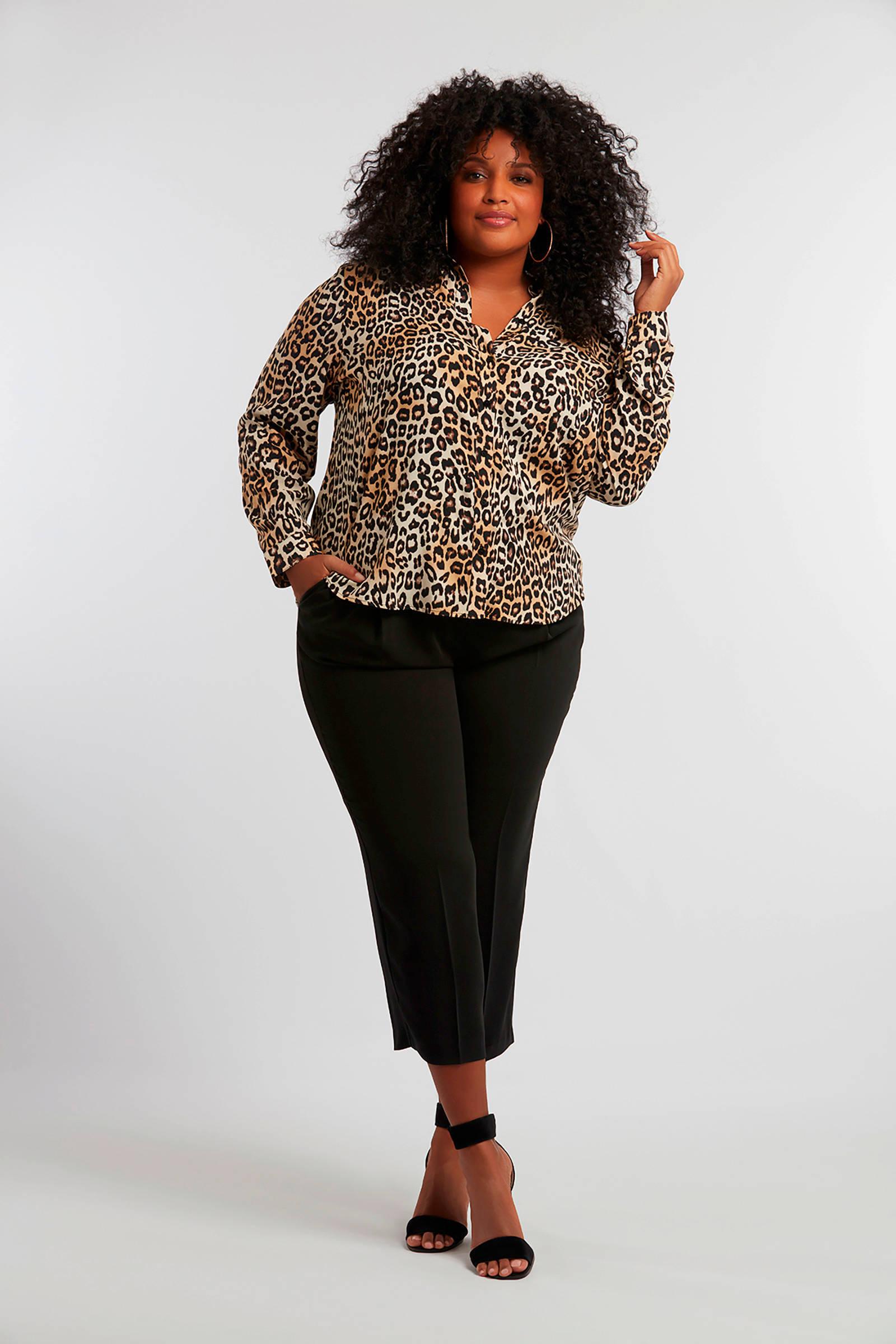 panterprint Mode met blouse MS bruin qUTwggtpx