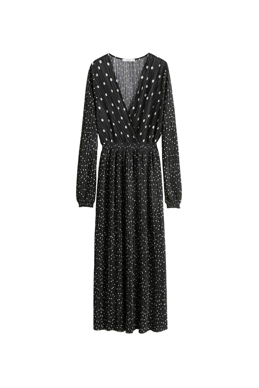 Mango jurk met stippen, Zwart/wit