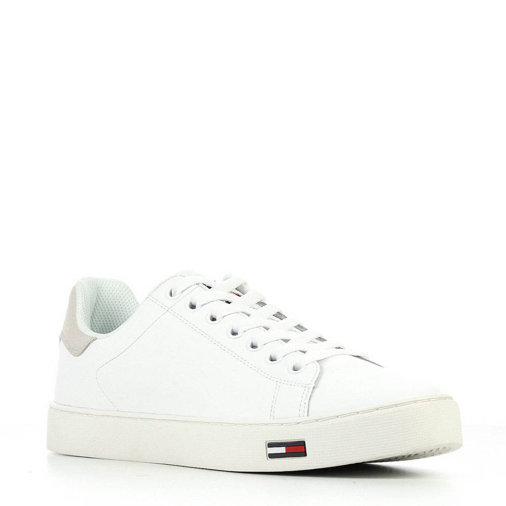 Tommy Jeans  Essential suède sneakers wit, Wit