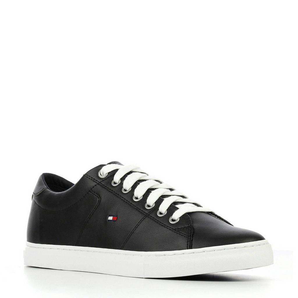 Tommy Hilfiger  Essential leren sneakers zwart, Zwart