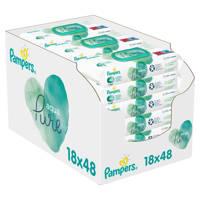 Pampers Aqua Pure 18 x 48 babydoekjes