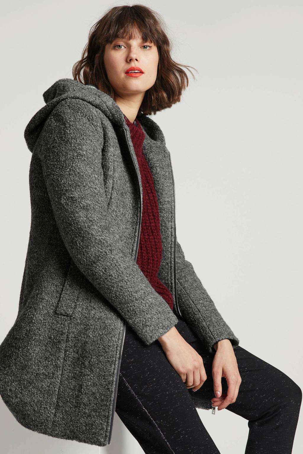 anytime jas met wol grijs, Grijs