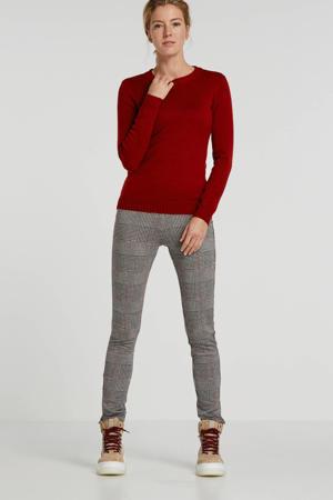 legging met pied-de-poule zwart/rose