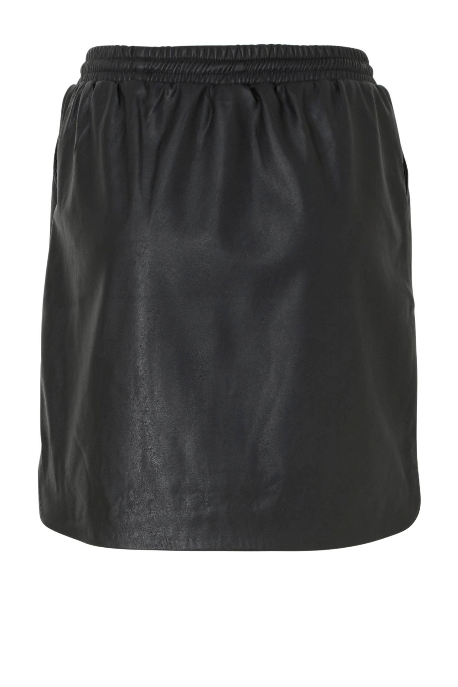 Saint Tropez imitatieleren rok zwart