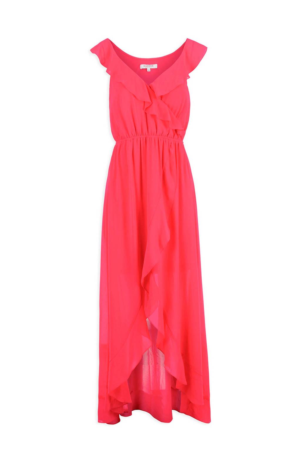 Morgan jurk met volant rood, Rood