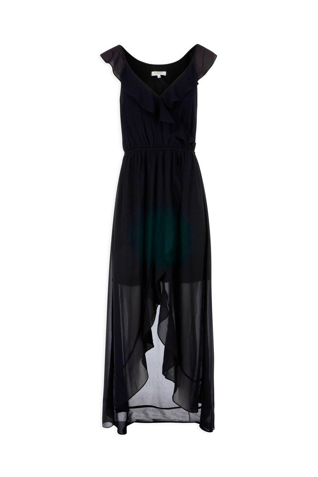 Morgan jurk met volant zwart, Zwart