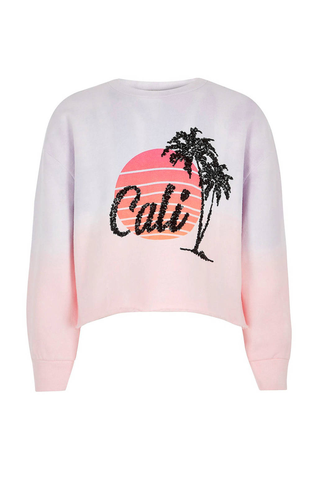River Island sweater met print roze, Roze