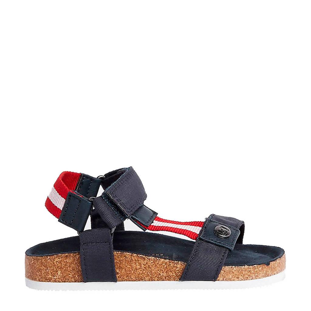 River Island sandalen blauw, Blauw/rood/wit