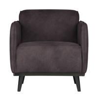 BePureHome eco-leren fauteuil Statement, Grijs
