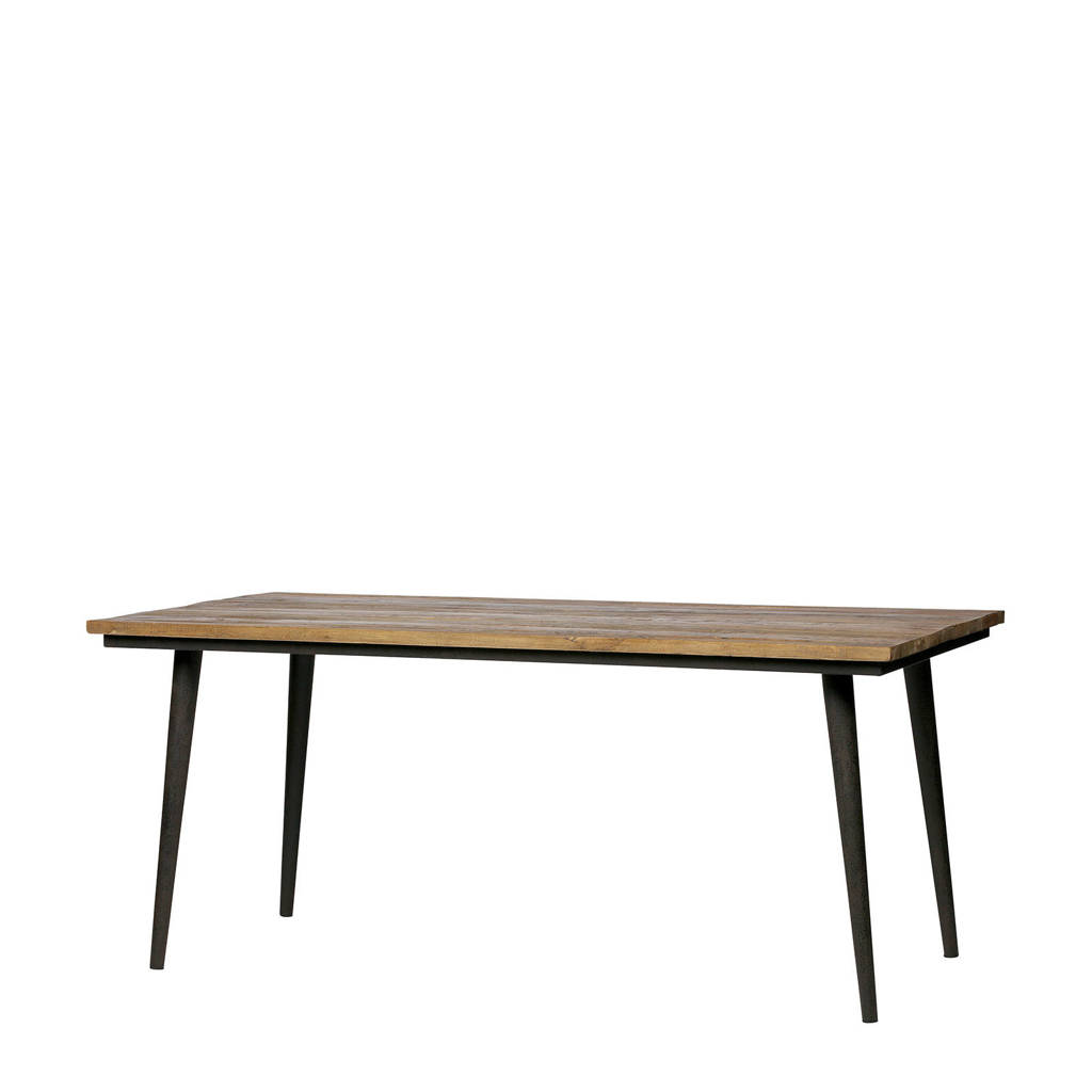 BePureHome eettafel Guild 180 cm, Bruin/zwart