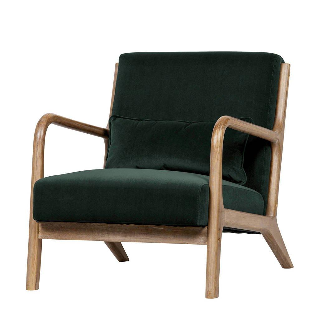 Woood fauteuil Mark, Donkergroen