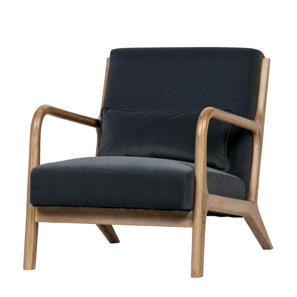 Woood fauteuil Mark, Antraciet
