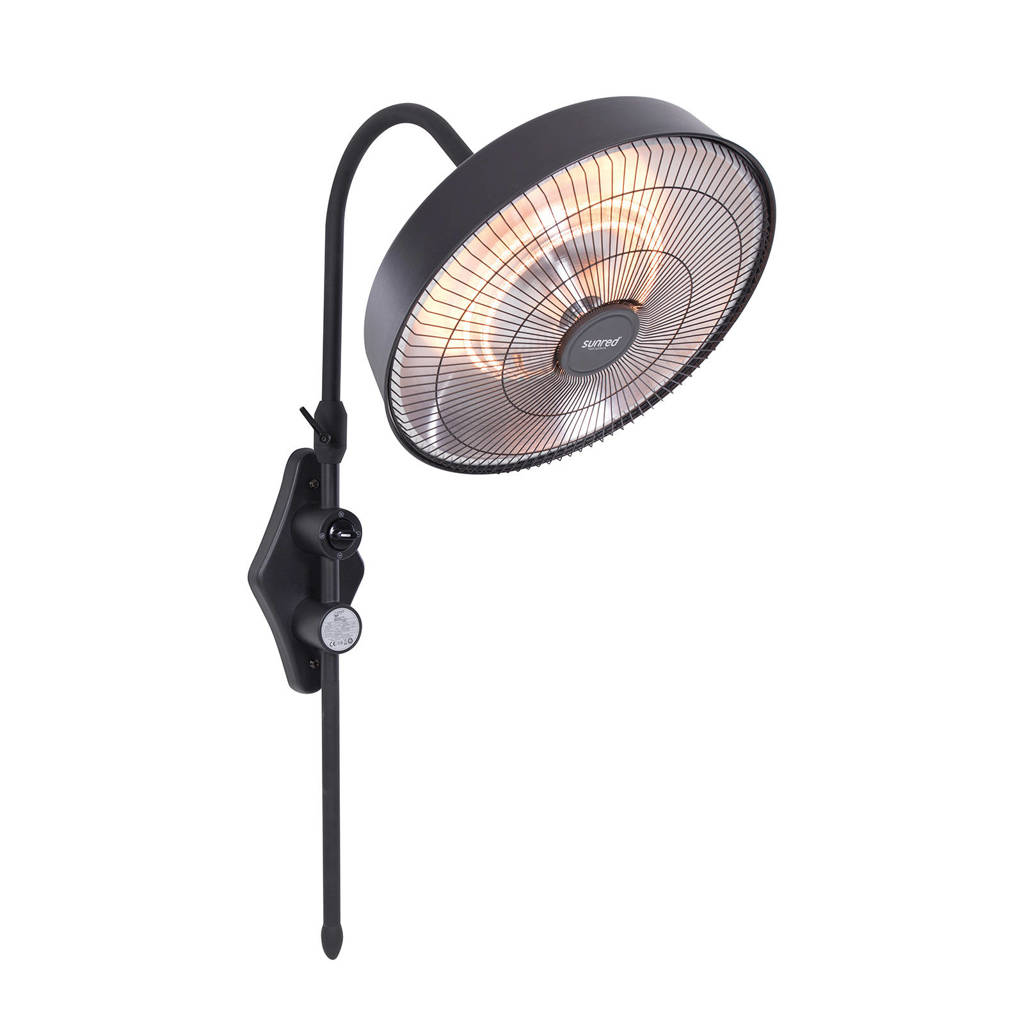 Sunred wand heater Retro 2100, Zwart