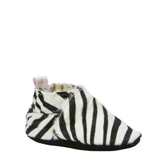 Zebra leren babyslofjes