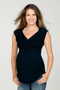 LOVE2WAIT zwangerschap + voeding T-shirt blauw, Donkerblauw