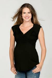 LOVE2WAIT zwangerschap + voeding T-shirt zwart, Zwart