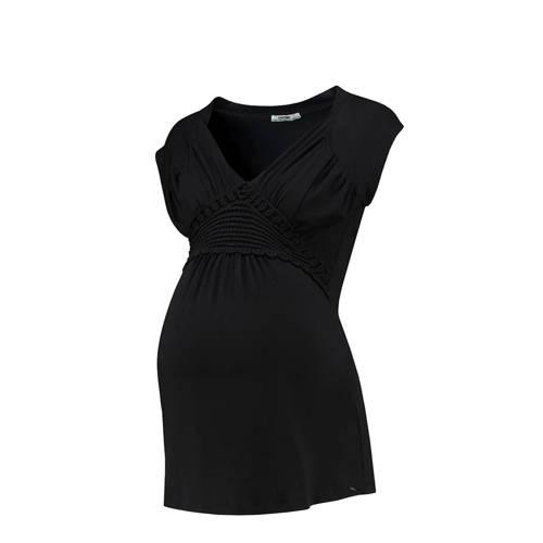 LOVE2WAIT zwangerschap + voeding T-shirt zwart