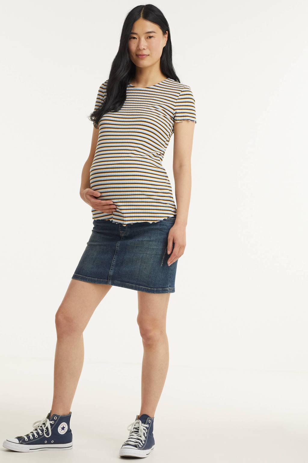 LOVE2WAIT zwangerschaps spijkerrok, Dark denim