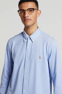 POLO Ralph Lauren gemêleerd regular fit overhemd lichtblauw, Lichtblauw