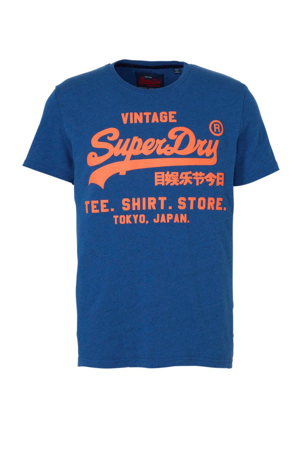 temperament schoenen lagere prijs met de beste T-shirt met tekstopdruk blauw