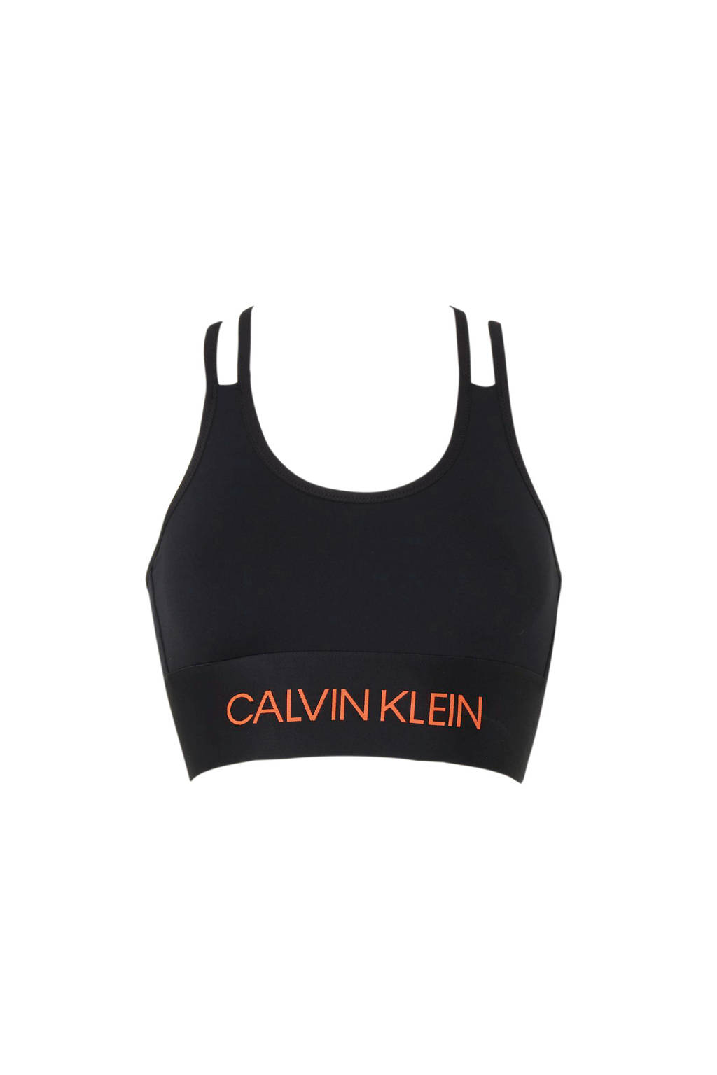 Calvin Klein Performance Level 1 sportbh zwart, Zwart/rood