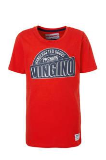 T-shirt Hai met logoprint rood