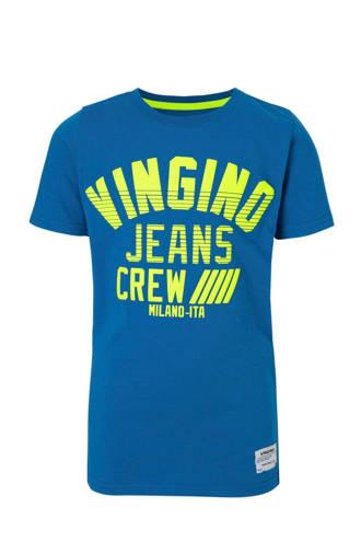 T-shirt Hadel met logo blauw