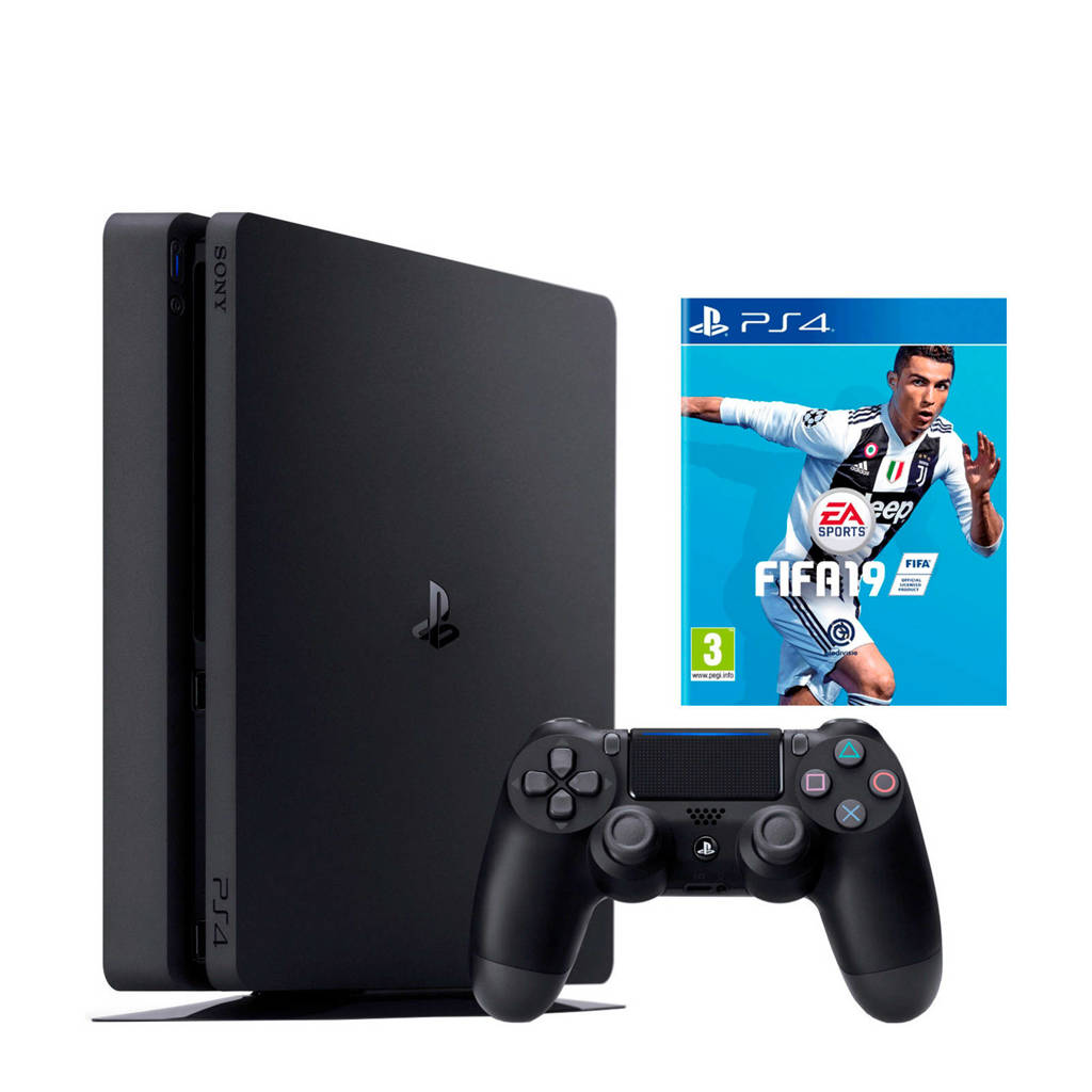 Sony PlayStation 4 500 GB FIFA 19, Zwart