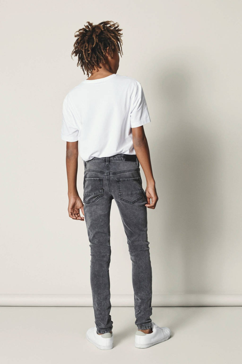 LMTD skinny fit jeans Pilou, Grijs